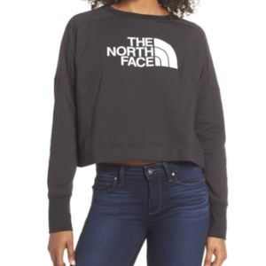THE NORTH FACE black cropped Womens sweatshirt